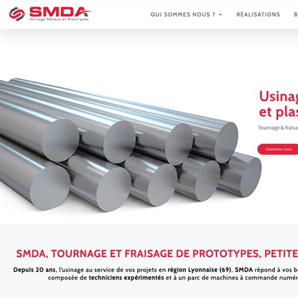 SDMA création site internet usinage métaux et plastiques