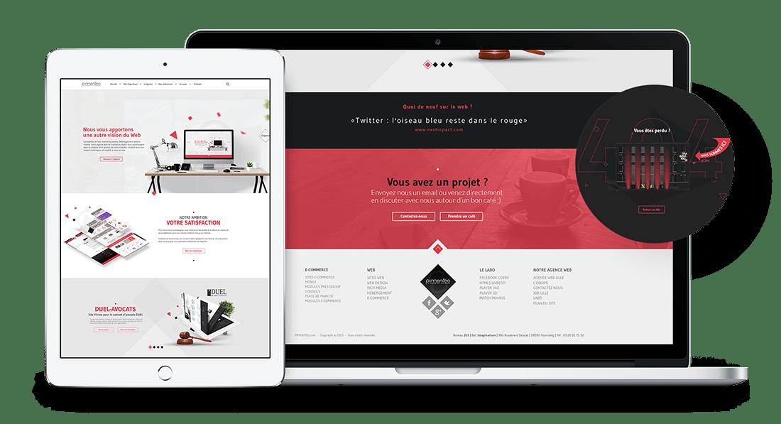 Création site agence web pimenteo