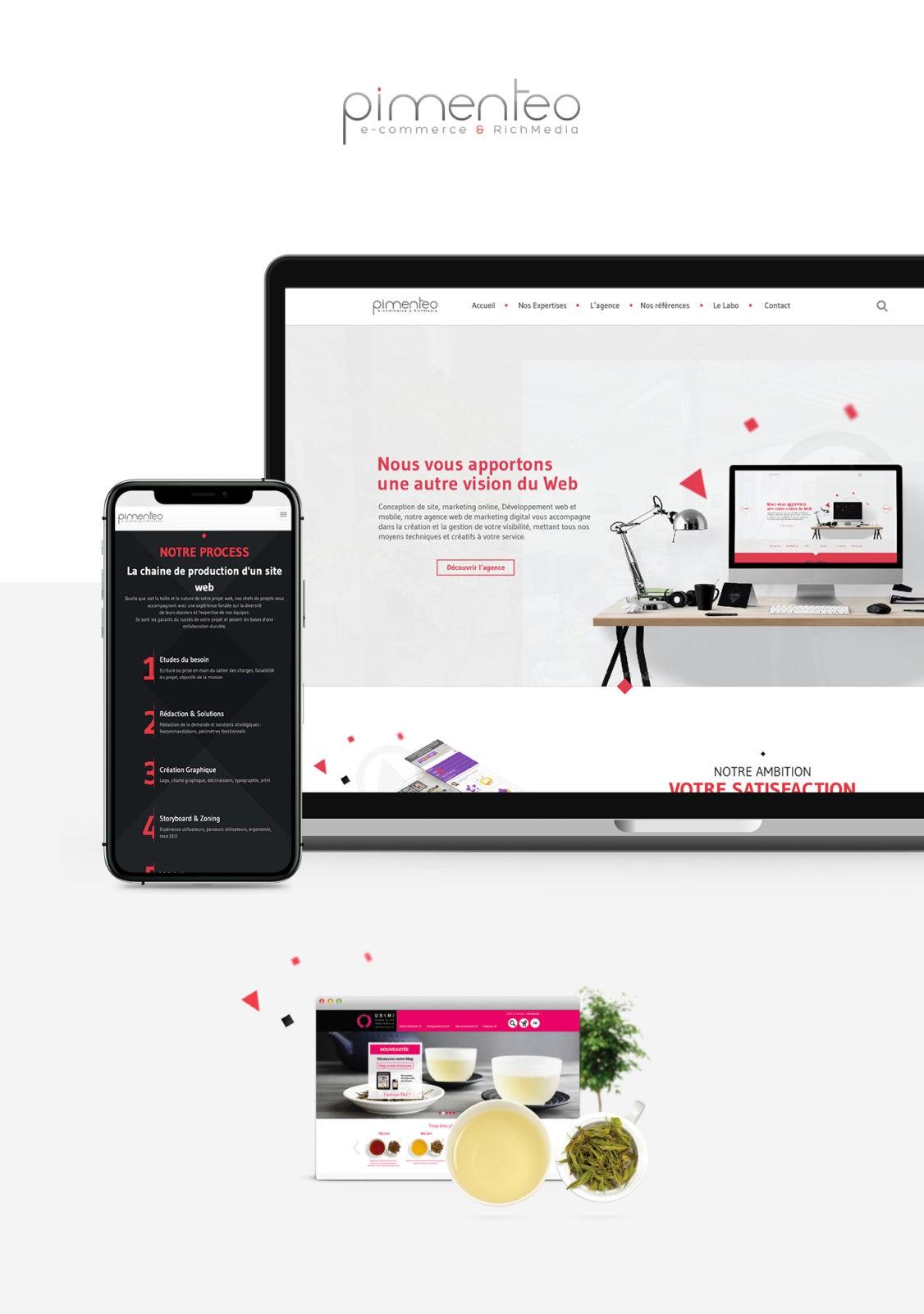 présentation webdesign pimenteo