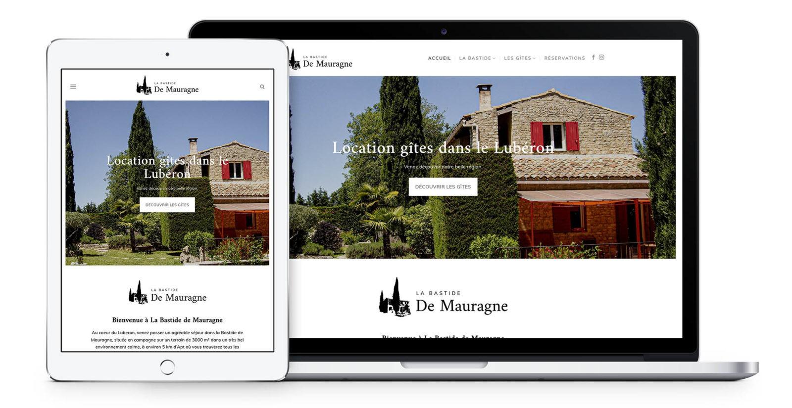 Création site internet gite location vacance
