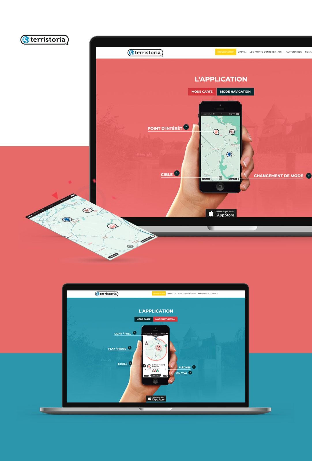 webdesign site one page application Villefranche sur Saone